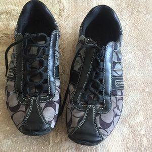 SZ 7 Coach Kirby Black Sneakers
